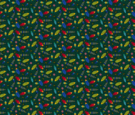 BUGS forest fabric by beebumble on Spoonflower - custom fabric
