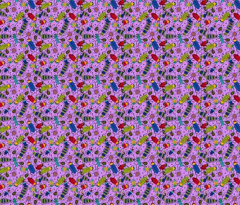 BUGS light purple fabric by beebumble on Spoonflower - custom fabric