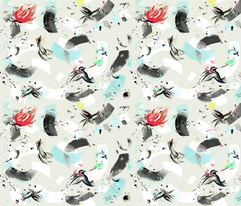 finch_and_hummingbird fabric by sandie_tee on Spoonflower - custom fabric