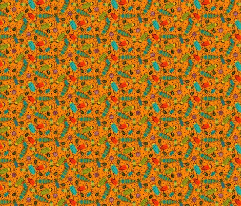 BUGS orange fabric by beebumble on Spoonflower - custom fabric