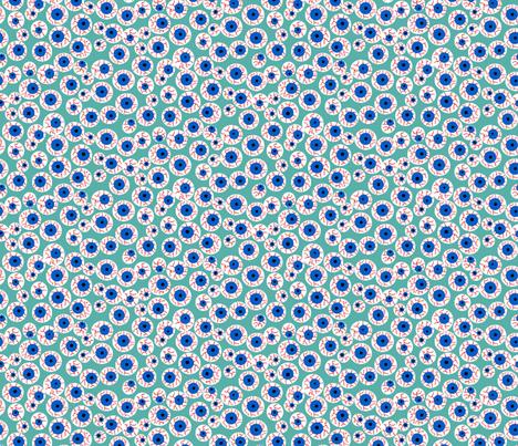 Eyeballs teal fabric by beebumble on Spoonflower - custom fabric