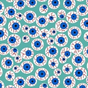 Eyeballs teal