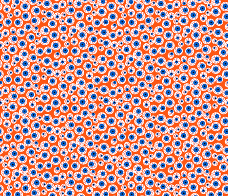 Eyeballs orange fabric by beebumble on Spoonflower - custom fabric
