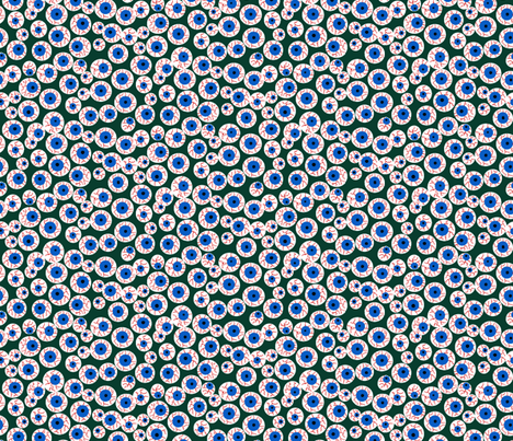 Eyeballs green fabric by beebumble on Spoonflower - custom fabric