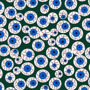 Eyeballs green