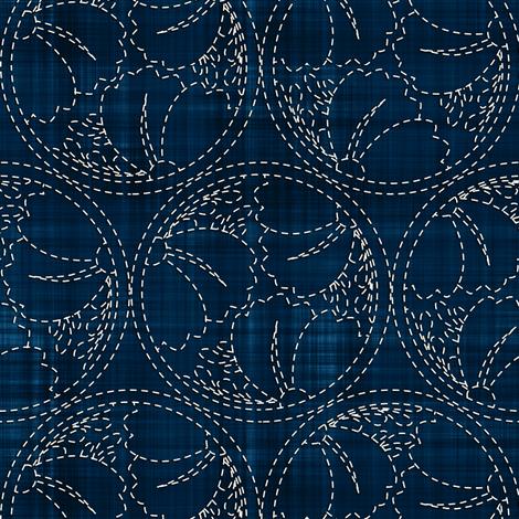 Sashiko: Hanami - Cherry Blossoms 1 fabric by bonnie_phantasm on Spoonflower - custom fabric