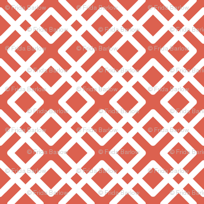 Modern Weave in Coral / Salmon