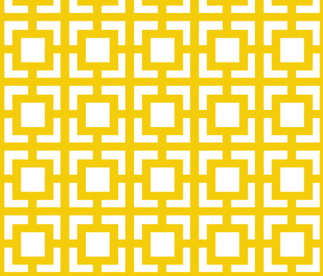 Moroccan Square in Sunny Yellow fabric by pearl&phire on Spoonflower - custom fabric