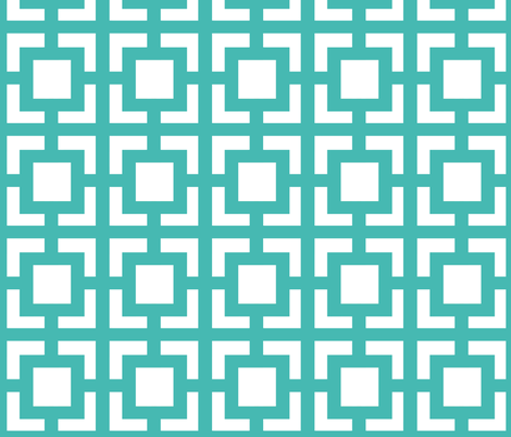 Moroccan_square Turquoise fabric by pearl&phire on Spoonflower - custom fabric