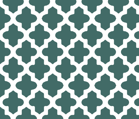 Classic Moroccan in Teal fabric by fridabarlow on Spoonflower - custom fabric