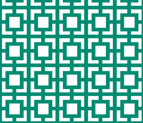 Moroccan_square Emerald fabric by pearl&phire on Spoonflower - custom fabric