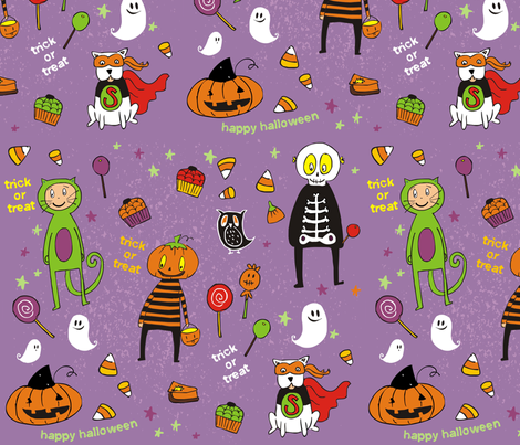 Boo I fabric by lauralvarez on Spoonflower - custom fabric