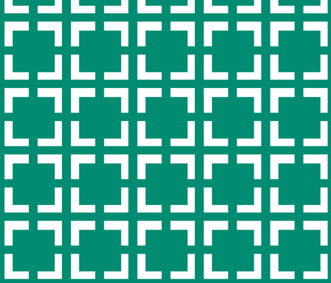 Moroccan Quad in Emerald fabric by pearl&phire on Spoonflower - custom fabric