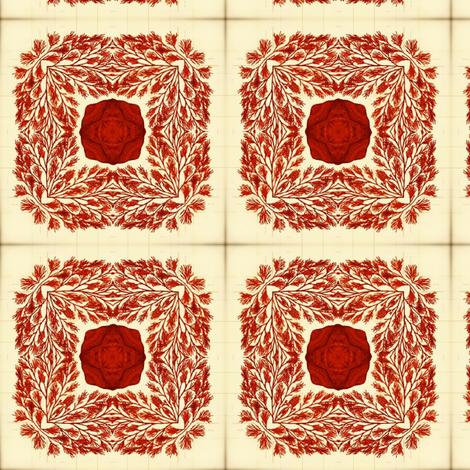 Sea life Red fabric by nascustomlife on Spoonflower - custom fabric