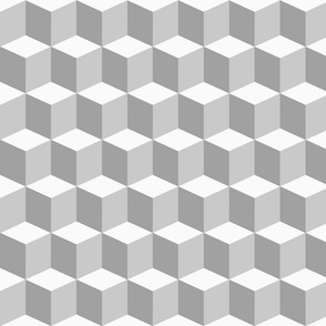 Colorful Tessellated Squares - Greyscale