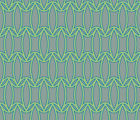 Peony in Mint and gray background fabric by pearl&phire on Spoonflower - custom fabric