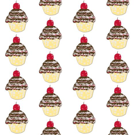 Cupcake Love-ch-ch fabric by karenharveycox on Spoonflower - custom fabric