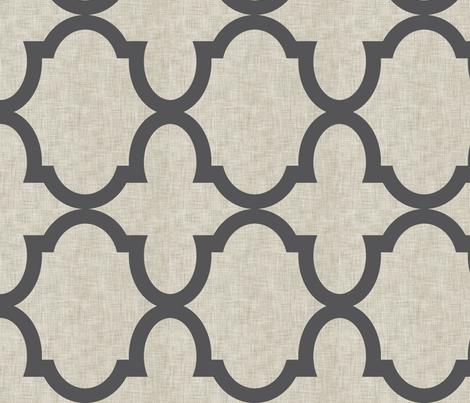 Chloe Linen Charcoal fabric by crisbucknall on Spoonflower - custom fabric
