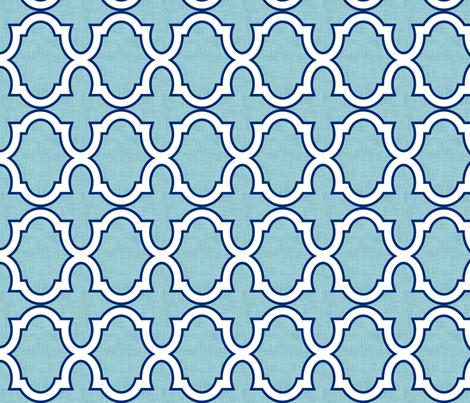 Claudette Ocean fabric by crisbucknall on Spoonflower - custom fabric