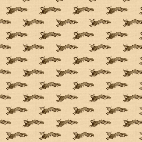 Le Renard - linen fabric by ragan on Spoonflower - custom fabric