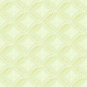 kimono diamond - pale chartreuse