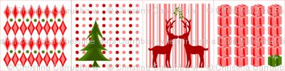 Kissing Reindeer Cocktail Napkins