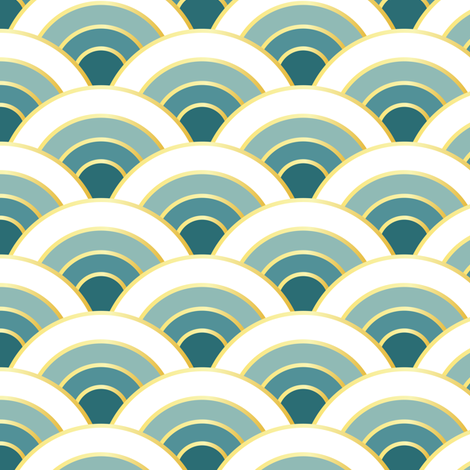 osaka waves - ocean fabric by fox&lark on Spoonflower - custom fabric