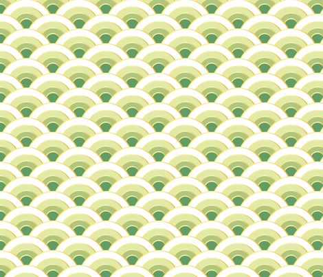osaka waves - emerald fabric by fox&lark on Spoonflower - custom fabric