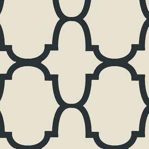 Quatrefoil- Charcoal