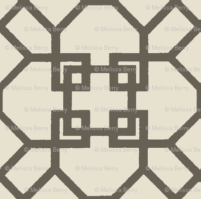Lattice- Taupe