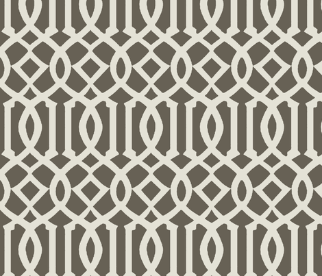 Imperial Trellis-Taupe-Large fabric by mrsmberry on Spoonflower - custom fabric