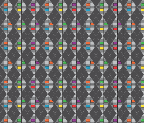 Arrow_Argyle fabric by kstarbuck on Spoonflower - custom fabric