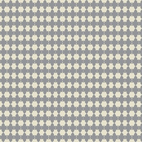 Floret Mini Print Gray and Cream