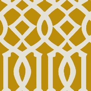 Imperial Trellis-Mustard-Large