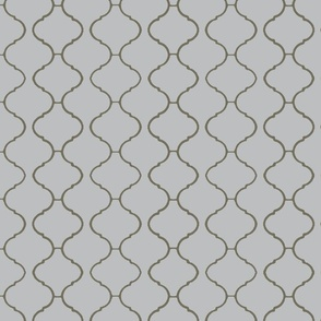Moorish Tile Trellis Gray and Greige