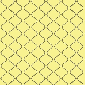 Moorish Tile Trellis Yellow and Greige