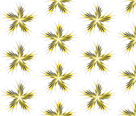 Whisper_Winds_Bumble_Bee_Fanfare_Medallion fabric by izeondesign on Spoonflower - custom fabric