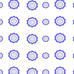 Blue Circle Flowers