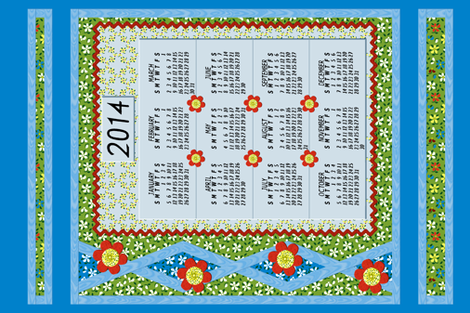 Flood_of_Flowers__Layered_Applique_Calendar_2014 S fabric by khowardquilts on Spoonflower - custom fabric