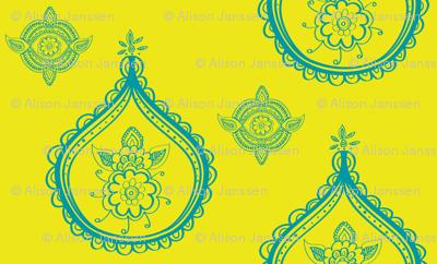 henna medallions