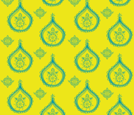 henna medallions fabric by fable_design on Spoonflower - custom fabric
