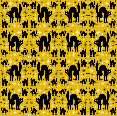 Rretro_style_black_cat_in_starburst_with_marigold_background_shop_preview