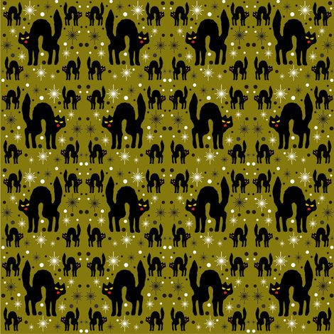 Rretro_style_black_cat_in_starburst_with_olive_background_shop_preview