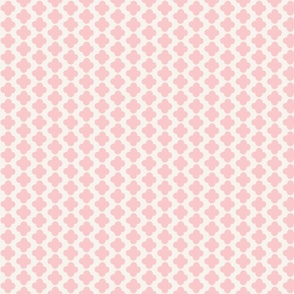 Quatrefoil Mini Print Pink and White