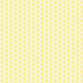 Quatrefoil Mini Print Yellow and White