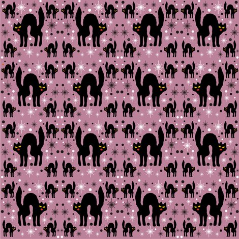 Rretro_style_black_cat_in_starburst_with_dusty_rose_background_shop_preview