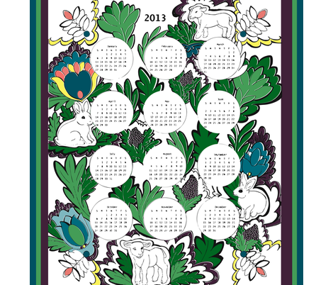 TeaTowel2012 fabric by nikky on Spoonflower - custom fabric