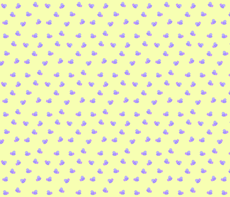 Pastel (bumble)bees fabric by bumblebeedc on Spoonflower - custom fabric