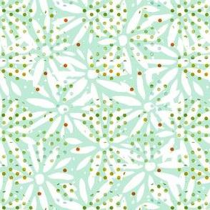 Mint cutout daisy