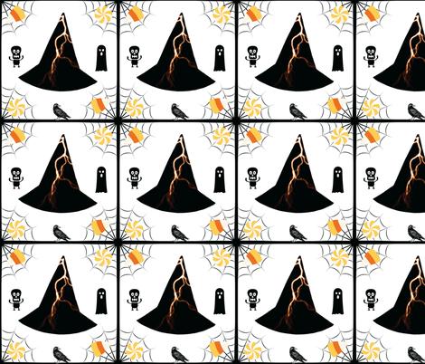 Lightning Hat & Bird fabric by painter13 on Spoonflower - custom fabric
